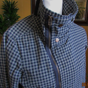 DC-COTTON-GREY-and-BLUE-CHECK-JACKET-SIZE-M